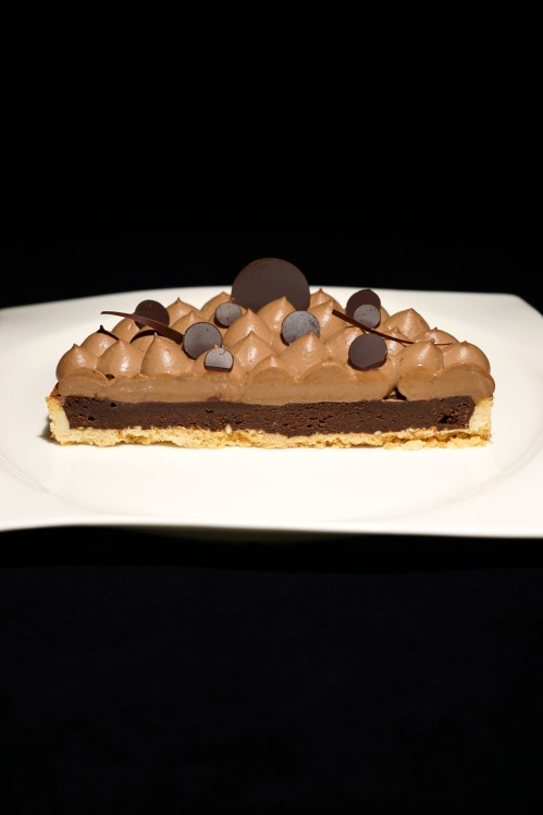 Brownie Mousse au Chocolat Tarte / Brownie Mousse de Chocolate Tarte