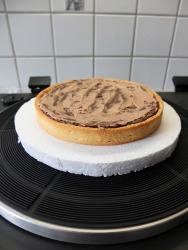 Brownie Mousse au Chocolat Tarte / Brownie Mousse de Chocolate Tarte